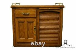 RICHARDSON BROTHERS Solid Oak Country French 39 Bar Cabinet / Server Buffet