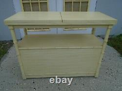Server Faux Bamboo Thomasville Serving Cart Hollywood Regency Bar Service Buffet