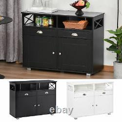 Sideboard Buffet Storage Cabinet Server Console Table with Drawers for Kitchen