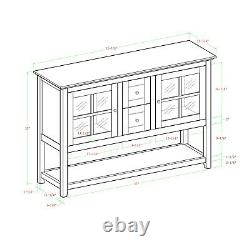 Sideboard Buffet Table Credenza China Cabinet Dining Room Server TV Stand Red