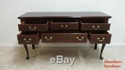 Stickley Mahogany Chippendale Federal Style Sideboard Server Buffet Console