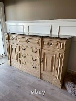 Thomasville dining room server/credenza with marble top