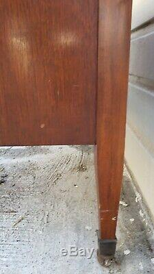 VTG Mahogany Rolling Server Sideboard Buffet Drinks Pull Out Shelf 2 drawers