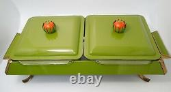 Vintage Anchor Hocking Fire King Dish Heated Buffet Server Warmer Chafing Dish