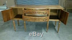 Vintage Beautiful Serpentine Front Sideboard / Buffet / Server