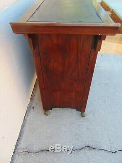 Vintage Bernhardt Pagoda Buffet Server Asian Sideboard Bar Cabinet Tansu Console