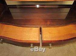 Vintage Inlaid Mahogany Three Tier Server, Sideboard, Buffet, Bench Made Quality