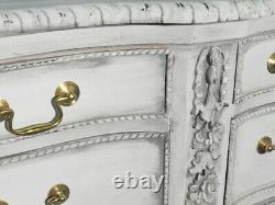 White Painted Pair of French Louis XV Style Sideboards Buffets Servers C1960