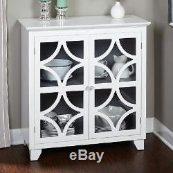 White Wooden Door Buffet Sideboard China Storage Cabinet Server Curio Display