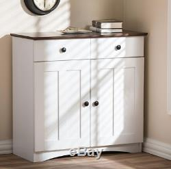 White Wooden Storage Cabinet Dining Sideboard Cupboard Buffet Door Server Pantry