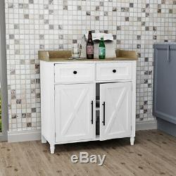 Wood Kitchen Sideboard Storage Cabinet Buffets Server Console Table With Drawers
