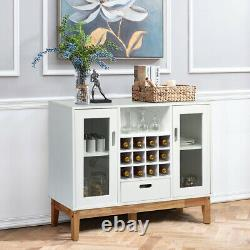 Wood Wine Storage Cabinet Sideboard Console Buffet Server with Wine Rack & Drawer