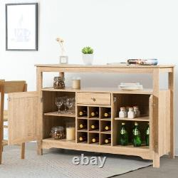 Wooden Buffet Server Sideboard Kitchen Storage Wine Cabinet Dining Room Nature